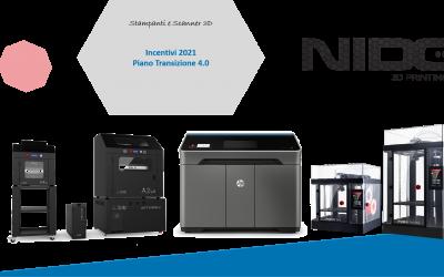 Piano Transizione 4.0, Stampanti 3D e Additive Manufacturing